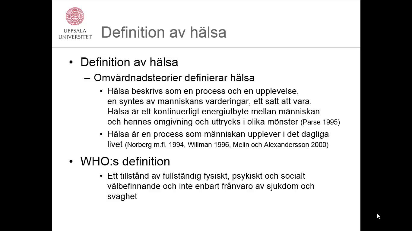 who hälsa definition