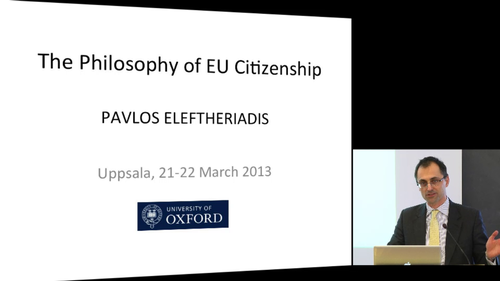 The Philosophy of EU Citizenship